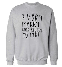 A very merry unbirthday to me! Adult's unisex grey Sweater 2XL