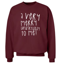 A very merry unbirthday to me! Adult's unisex maroon Sweater 2XL