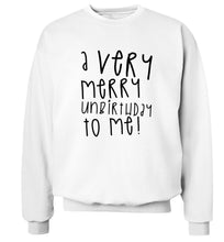 A very merry unbirthday to me! Adult's unisex white Sweater 2XL