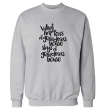 What happens at grandmas house stays at grandmas house Adult's unisex grey Sweater 2XL