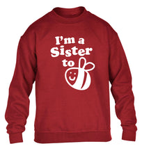 I'm a sister to be children's grey sweater 12-14 Years
