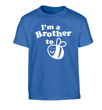 I'm a brother to be Children's blue Tshirt 12-14 Years