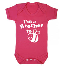 I'm a brother to be Baby Vest dark pink 18-24 months