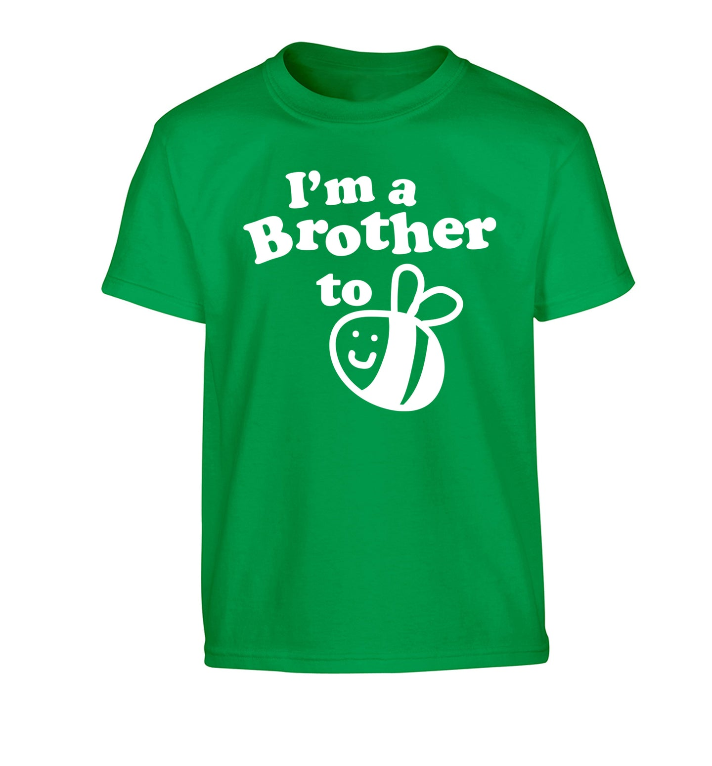 I'm a brother to be Children's green Tshirt 12-14 Years
