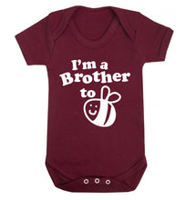 I'm a brother to be Baby Vest maroon 18-24 months