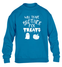 Will trade brother for treats children's blue sweater 12-14 Years