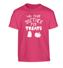 Will trade brother for treats Children's pink Tshirt 12-14 Years