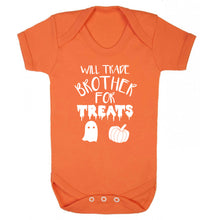 Will trade brother for treats Baby Vest orange 18-24 months