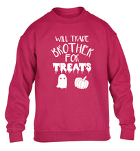 Will trade brother for treats children's pink sweater 12-14 Years