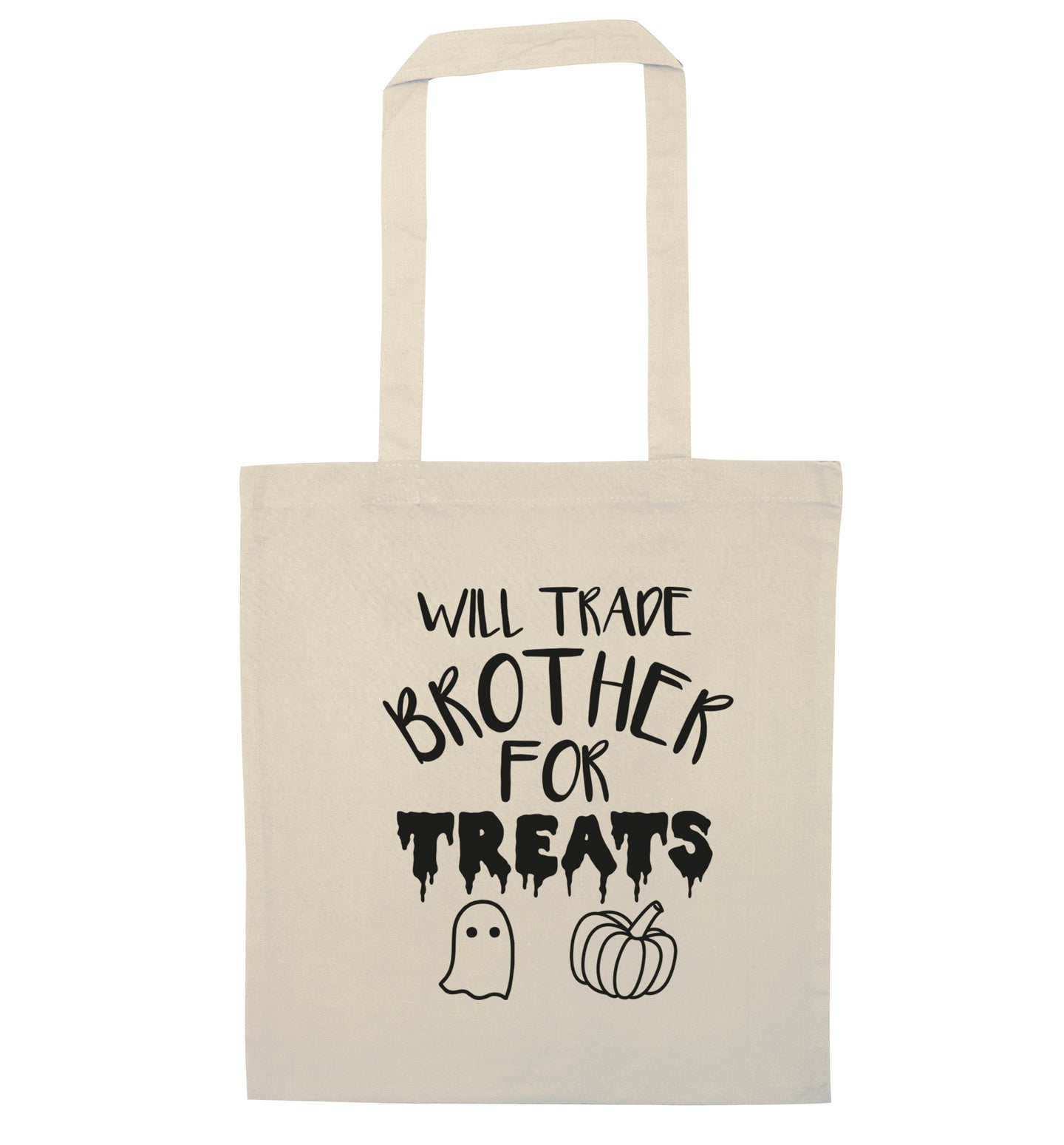 Will trade brother for treats natural tote bag