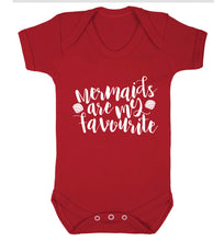 Mermaids are my favourite Baby Vest red 18-24 months