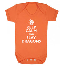 Keep calm and slay dragons Baby Vest orange 18-24 months