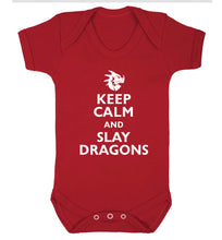 Keep calm and slay dragons Baby Vest red 18-24 months