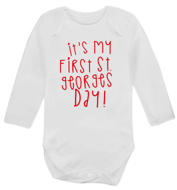 It's my first St Georges day Baby Vest long sleeved white 6-12 months