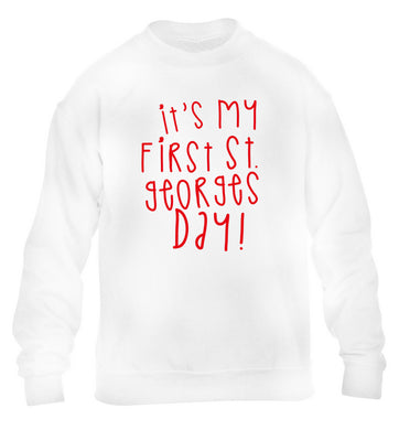 It's my first St Georges day children's white sweater 12-14 Years