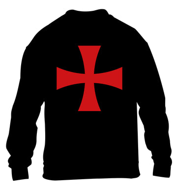 Knights Templar cross children's black sweater 12-14 Years