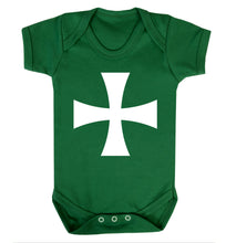 Knights Templar cross Baby Vest green 18-24 months