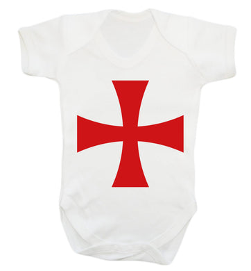 Knights Templar cross Baby Vest white 18-24 months