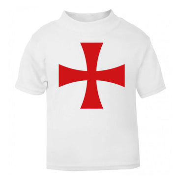 Knights Templar cross white Baby Toddler Tshirt 2 Years