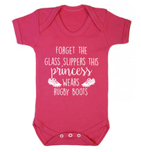 Forget the glass slippers this princess wears rugby boots Baby Vest dark pink 18-24 months