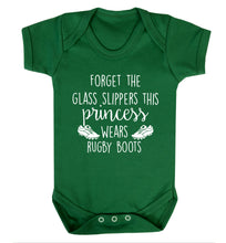 Forget the glass slippers this princess wears rugby boots Baby Vest green 18-24 months