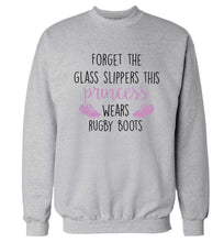 Forget the glass slippers this princess wears rugby boots Adult's unisex grey Sweater 2XL