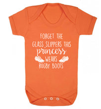 Forget the glass slippers this princess wears rugby boots Baby Vest orange 18-24 months