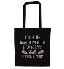 Forget the glass slippers this princess wears football boots black tote bag