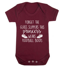 Forget the glass slippers this princess wears football boots Baby Vest maroon 18-24 months