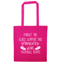 Forget the glass slippers this princess wears football boots pink tote bag