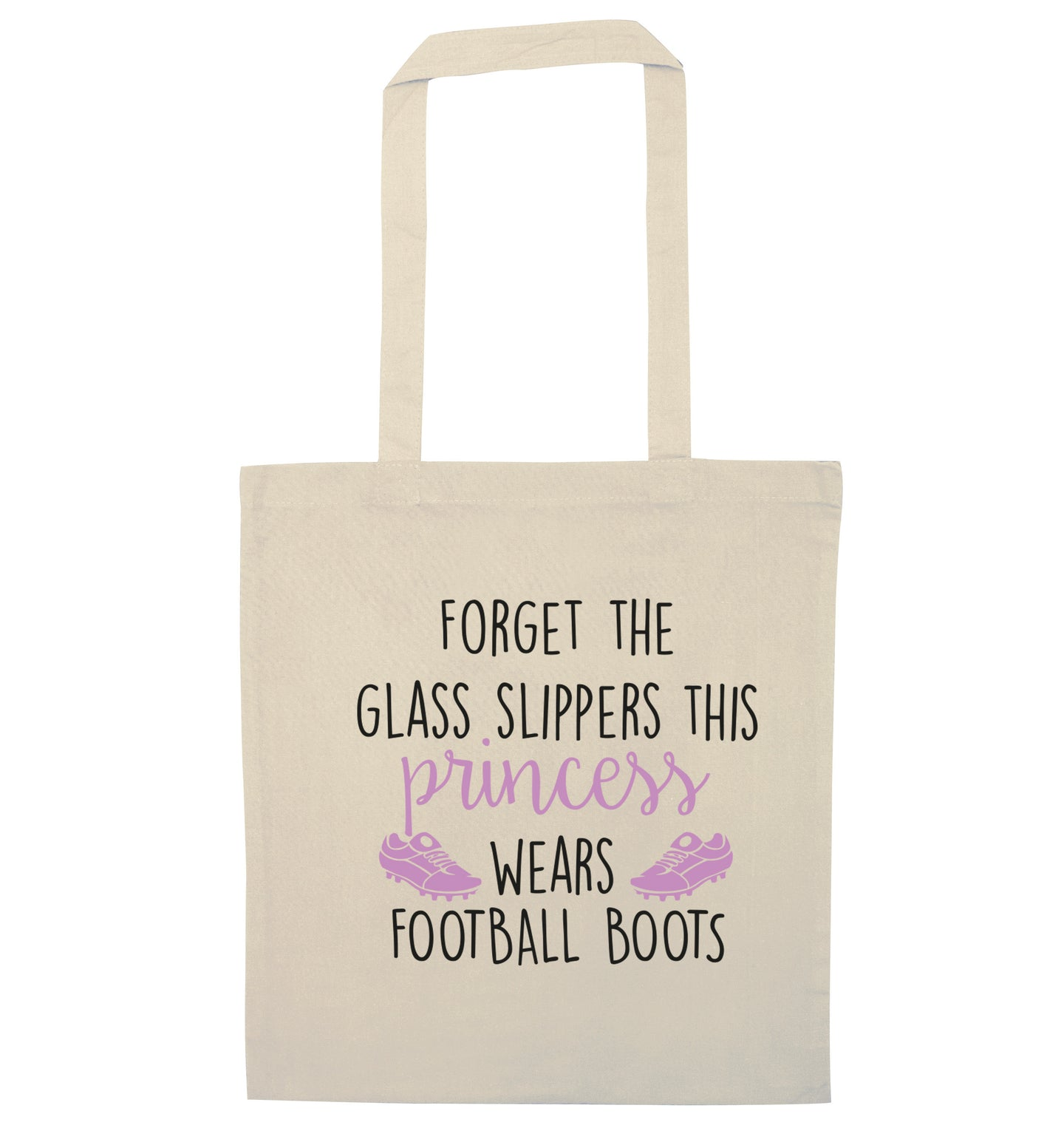 Forget the glass slippers this princess wears football boots natural tote bag