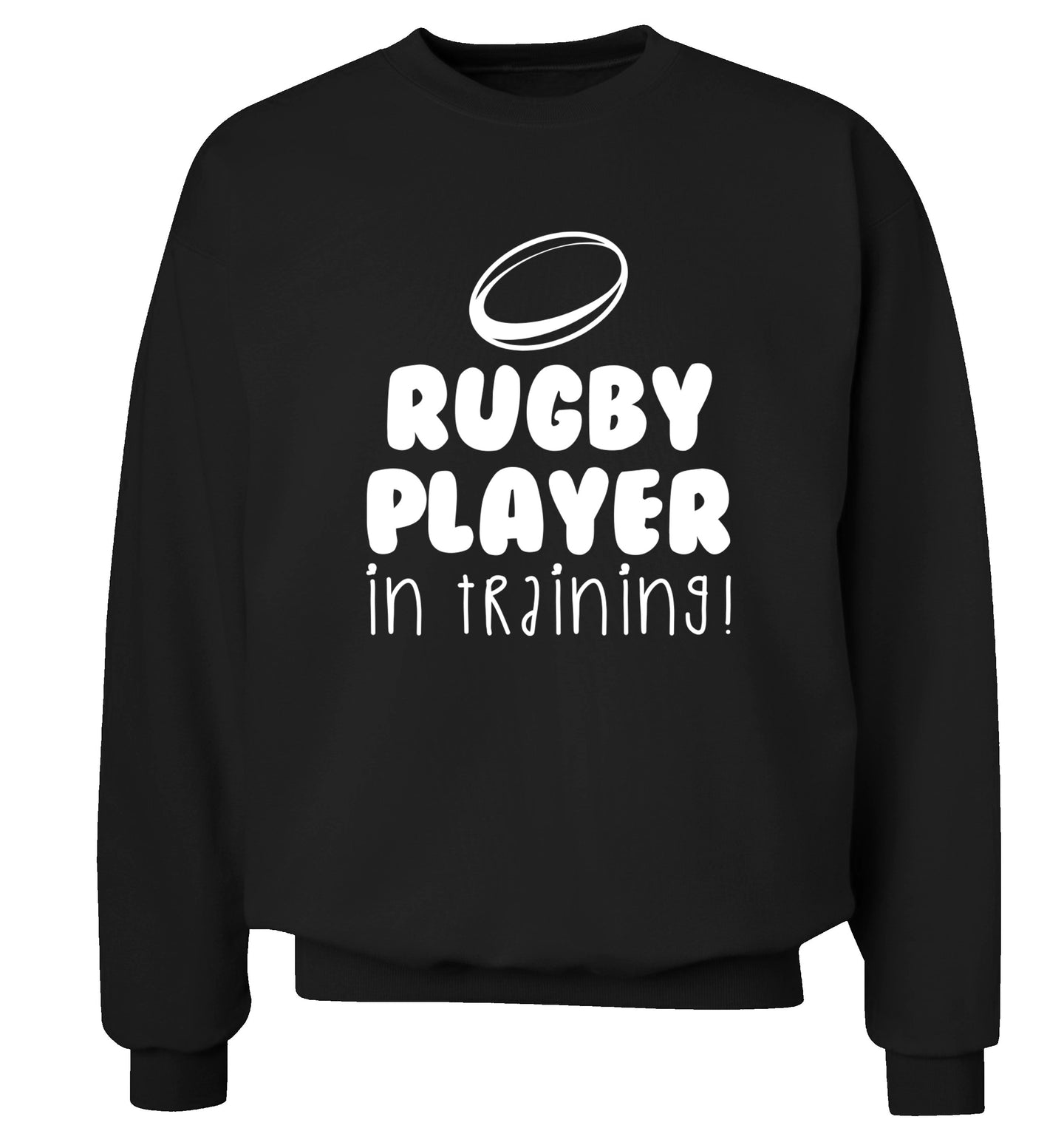 Rugby player in training Adult's unisex black Sweater 2XL