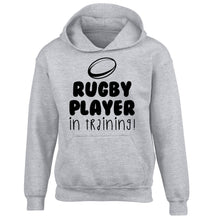 Rugby player in training children's grey hoodie 12-14 Years