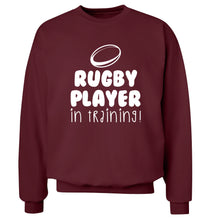 Rugby player in training Adult's unisex maroon Sweater 2XL