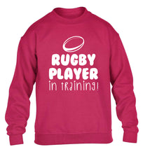 Rugby player in training children's pink sweater 12-14 Years