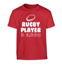 Rugby player in training Children's red Tshirt 12-14 Years