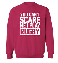 You can't scare me I play rugby Adult's unisex pink Sweater 2XL