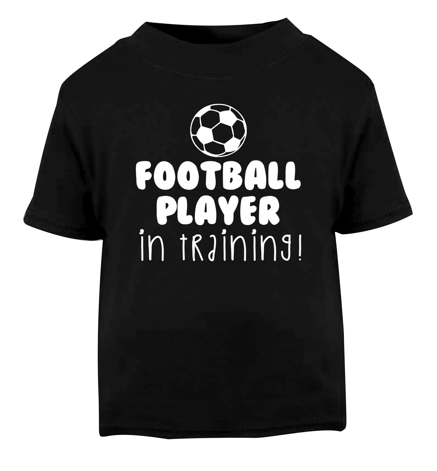 Football player in training Black Baby Toddler Tshirt 2 years