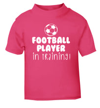 Football player in training pink Baby Toddler Tshirt 2 Years