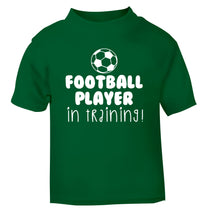 Football player in training green Baby Toddler Tshirt 2 Years