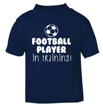 Football player in training navy Baby Toddler Tshirt 2 Years
