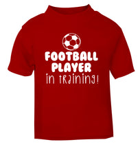Football player in training red Baby Toddler Tshirt 2 Years