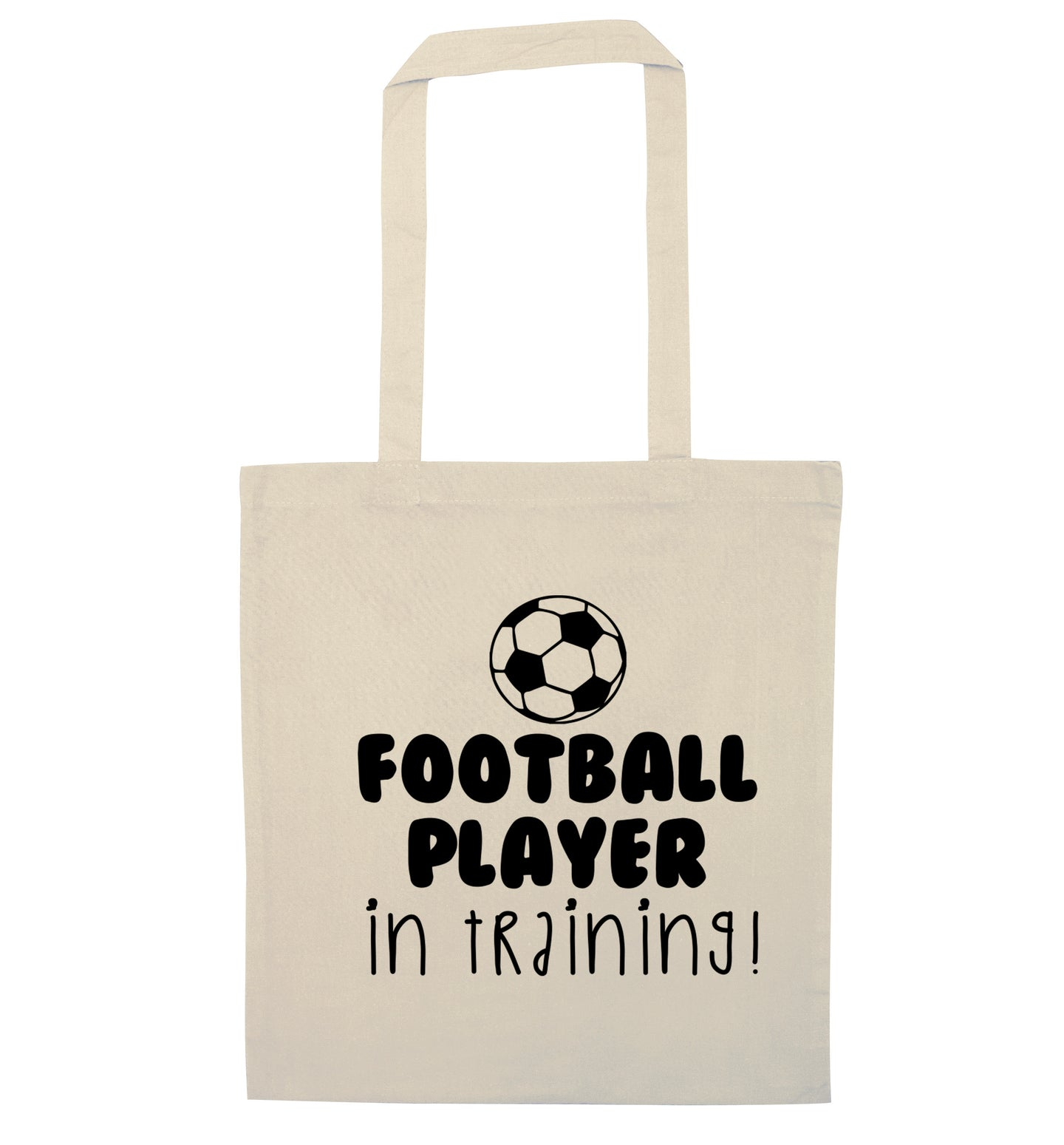 Football player in training natural tote bag