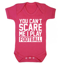 You can't scare me I play football Baby Vest dark pink 18-24 months