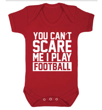 You can't scare me I play football Baby Vest red 18-24 months