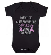 Forget the glass slippers this princess wears ski boots Baby Vest black 18-24 months
