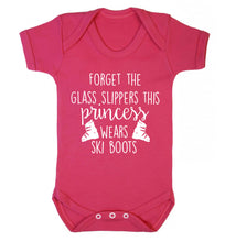 Forget the glass slippers this princess wears ski boots Baby Vest dark pink 18-24 months