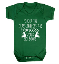 Forget the glass slippers this princess wears ski boots Baby Vest green 18-24 months