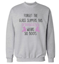 Forget the glass slippers this princess wears ski boots Adult's unisex grey Sweater 2XL