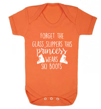 Forget the glass slippers this princess wears ski boots Baby Vest orange 18-24 months